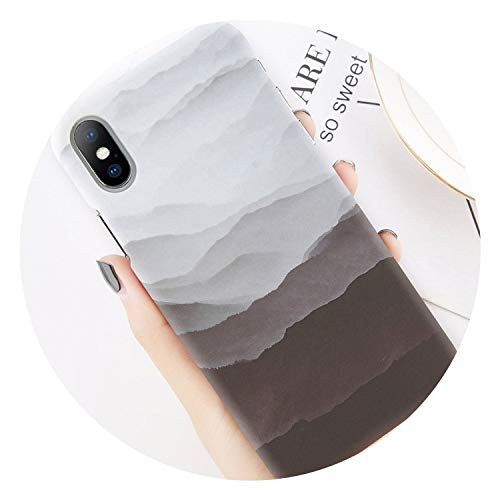 Phone Case for iPhone 8 7 Plus Mountain Peak Forest Back Cover for iPhone X XS XR XS Max 7 6 6S Plus Hard PC Cases Coque,S 1037,for 6 Plus 6s Plus