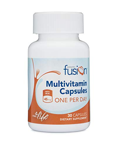 Bariatric Fusion Bariatric Multivitamin ONE per Day Capsule with 45mg of Iron for Post Bariatric Surgery Patients…