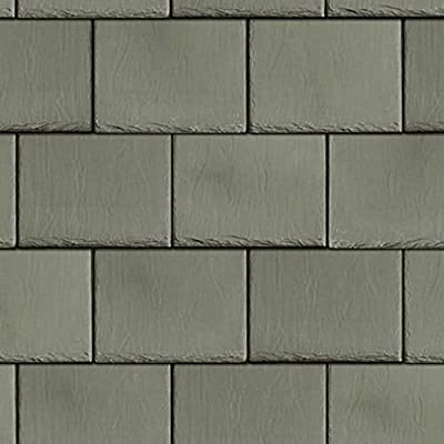 Melody Jane Dollhouse Roof Tile Slates Light Grey Miniature 1:12 Scale Card Roofing Sheet: Toys & Games