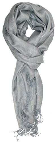 Ted and Jack - Hollywood Dreams Sparkling Metallic Scarf - Shiney Silver