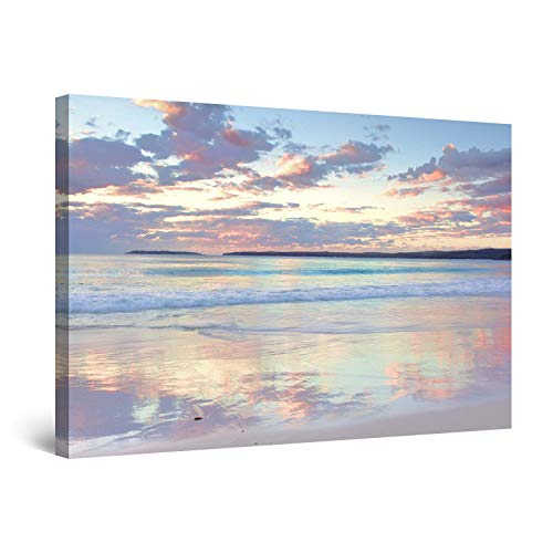 (STARTONIGHT Canvas Wall Art - Daydream Serenity Beach, Water Framed 32 x 48 Inches)