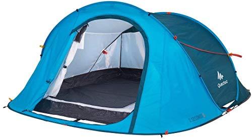 Quechua Waterproof Pop Up Camping Tent 2 Seconds Easy 3 Man (Blue)
