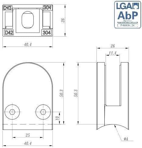 fenau | Pinza para cristal [V2 A/zinc] [□ plano hasta ø48,3 mm] [goma: 1,5 mm hasta 10,76 mm]: Amazon.es: Bricolaje y herramientas