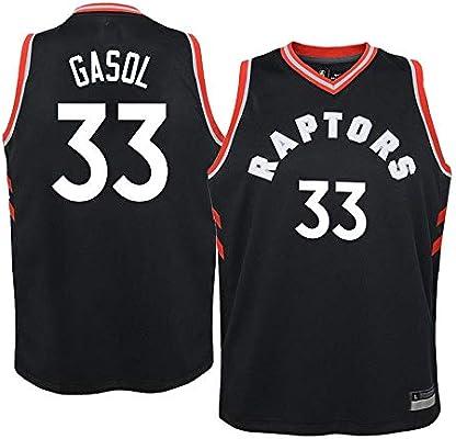 K&A Camiseta Niño Marc Gasol Toronto Raptors Negro, Camiseta Niño ...