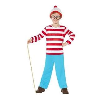 SMIFFYS Disfraz infantil ¿Dónde está Wally? - Chico - Talla 4-6 ...