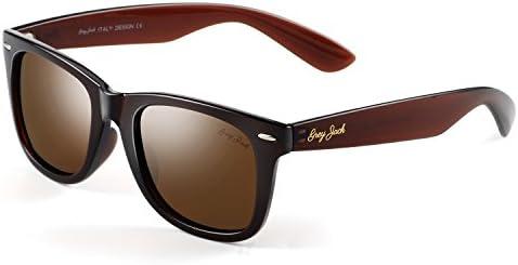 GREY JACK Classic Polarized Horn Rimmed Sunglasses for Men Women