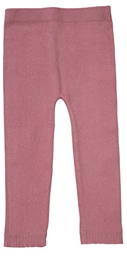 Organic Dress Knit - Silky Toes Infant, Baby, Toddler Knit Leggings, Cotton Pants for Girls and Boys, (Mauve, 2-4Y)