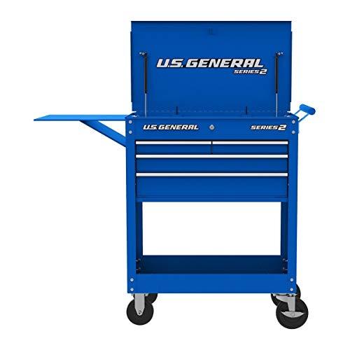 [해외]Roller Cart Tool Cabinet Storage Chest Box Glossy 4 Drawer 580 Lb. Capacity - Blue / Roller Cart Tool Cabinet Storage Chest Box Glossy 4 Drawer 580 Lb. Capacity - Blue