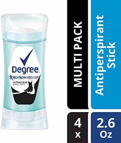 Degree UltraClear Black + White Antiperspirant Deodorant 2.6 oz, 4 count