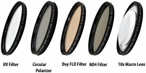 Opteka High Definition II Professional 5 Piece Filter Kit Includes UV CPL DSC-H50 Digital Camera FL DSC-H9 ND4 and 10x Macro Lens for Sony Cybershot DSC-H7