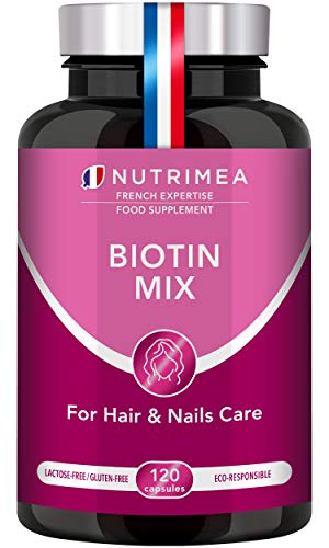 Biotin Hair Growth Supplement – Enriched with Zinc & Selenium – Vitamins for Longer, Stronger and Thicker Hair and Nails…
