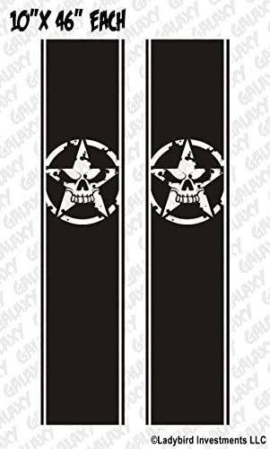 Army Star Skull #2 Truck Bed Decals Stripes Pair Ram Chevy Ford F150 Toyota