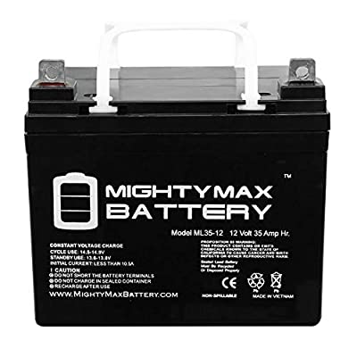 Mighty Max Battery 12V 35AH Wheelchair Battery Replaces Enduring CB35-12, CB-35-12 - 2 Pack Brand Product : Sports & Outdoors