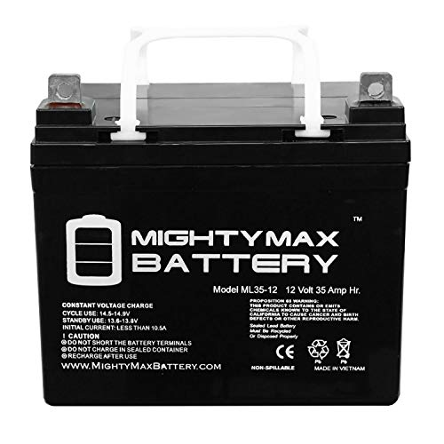Mighty Max Battery ML35-12 - 12V 35AH U1 Invacare Pronto M50, M51, M61, M71, Booster Battery - 2 Pack Brand Product