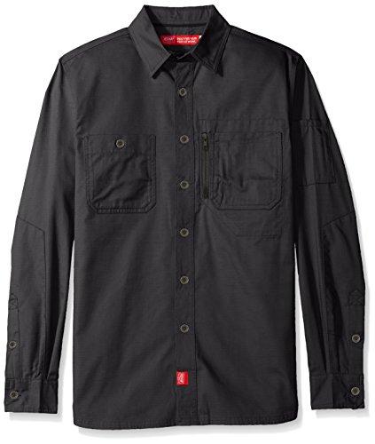 Red Kap Mens Woven Work Shirt With Mimix Technology  Stealth Grey  Medium