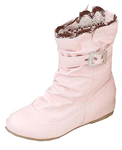 Frühling Herbst kurz Stiefel Studenten Schuhe Rosa