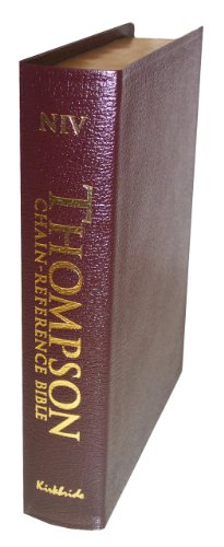 Thompson Chain-REference Study Bible New International Version: Handy Size, Burgundy Bonded Leather