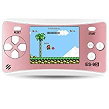 """Handheld Game Console Classic Retro Video Gaming Player Portable Arcade System Birthday Gift for Kids Recreation 2.5"""" Color LCD Built in 168 Games (Rose Gold)"""