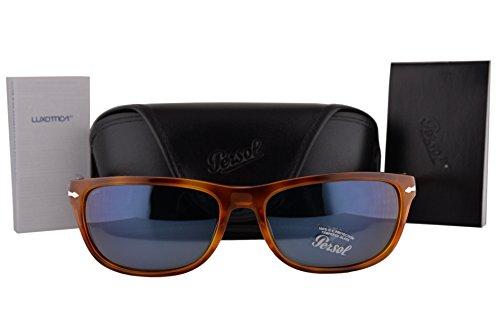Persol PO3156S Sunglasses Havana w/Blue Lens 9656 PO - Persol 3059s