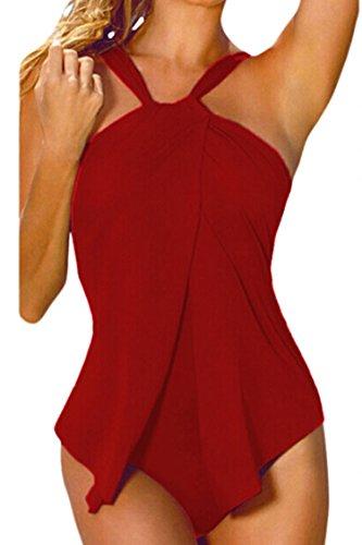 Sovoyant Womens Halter Swimsuit Monokini
