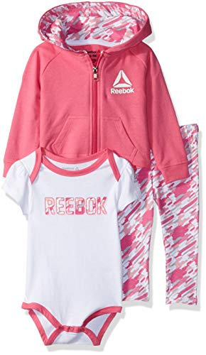 Creeper Jacket For Kids - Reebok Baby Girls 3 Piece French