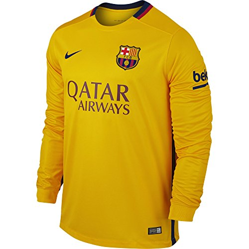Nike FC Barcelona Away Men's Soccer Jersey Long Sleeve (S)