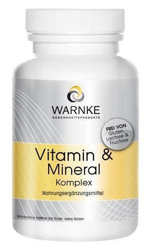 Complejo de vitaminas y minerales – con 18 sustancias vitales – gran dosifiación – 100 cápsulas