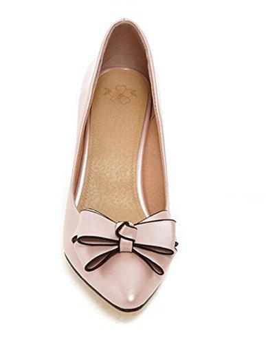 xie Pointue Doigt Faible Bouche Solides Couleurs Unique Chaussures Élégant Vent Doux Mince avec des Talons Hauts Chaussures Tribunal, Pink, 38