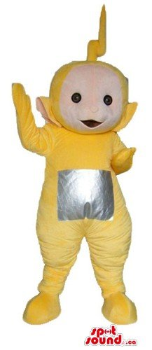 Yellow teletubby cartoon character SpotSound Mascot US costume fancy dress - Teletubby Fancy Dress