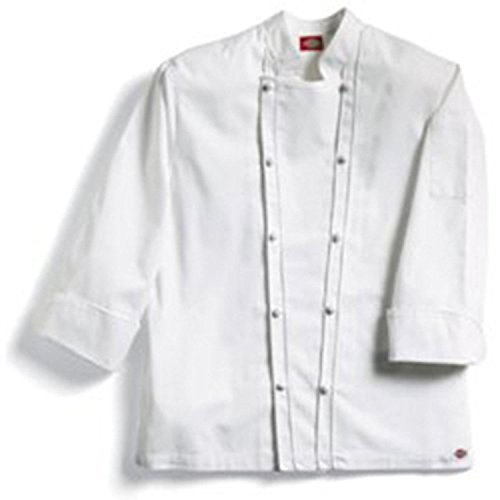 Dickies Chef 70102 Egyptian Cotton Grand Master Chef Coat Knot Buttons White