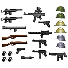 BrickArms World War II Weapon Pack (24 Pieces) - LEGO Compatible Weapons [Toy]