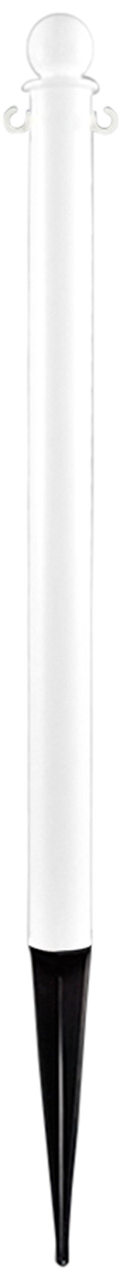 Mr. Chain 95401-6 Deluxe Ground Pole, 2-1/2'' Diameter x 35'' Height, White (Pack of 6)