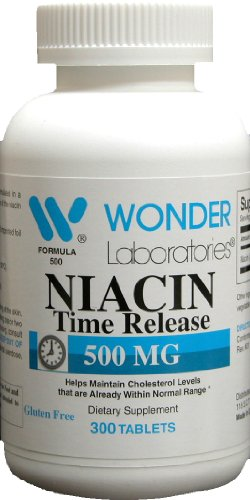 Niacin 500 Mg Time Release - 300 Tablets #5005