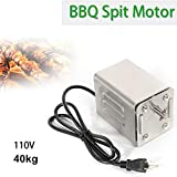NOPTEG 110V Universal Grill Electric Replacement BBQ Grill Heavy Duty Stainless Steel Rotisserie Motor Electric Spit Pig Chicken Roaster Motor US Plug
