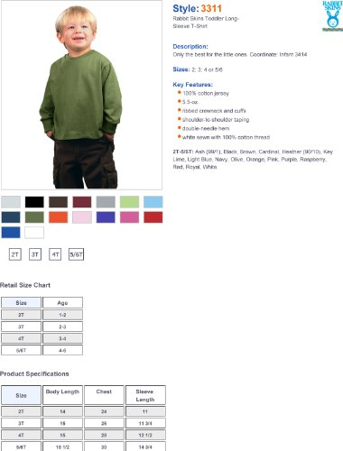 oz. Jersey T-Shirt ,5T/6T,Raspberry
