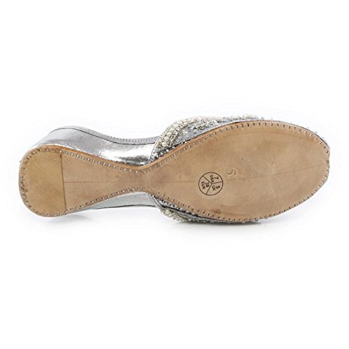 Mujer GS Shoes UK Plata Shalimar Ballet vIYqBq5