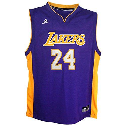 NBA Los Angeles Lakers Boys 4-7 Away Replica Jersey, Bryant K # 24, Medium (5/6)