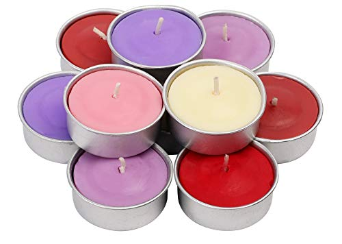 - Exquizite Variety Collection - Highly Scented Luxury Tealight Candles Gift Set - 90 pcs - Set of 15 Tealights with 6 Fragrances - Lavender, French Vanilla, Rose, Apple Cinnamon, Lilac and Black Cherry