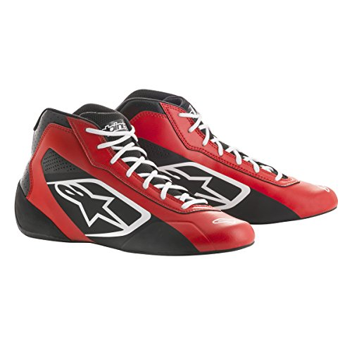 Alpinestars 2711518-312-9.5 Tech 1-K Start Shoes, Red/Black/White, Size 9.5 Black Kart Racing Shoe