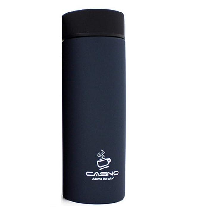 Botella de acero inoxidable aislada con termo de BPA Yogamt mujeres apto para hombres 300 ml azul oscuro ni/ños taza de caf/é de viaje dise/ño a prueba de fugas