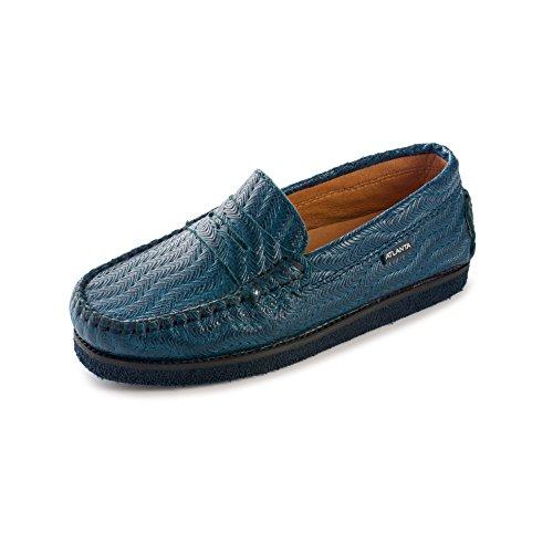 Atlanta Mocassin Grils's Slip On Mocassin Penny Loafer Flat Shoe Thick Sole (31 M EU, Navy Blue) by Atlanta Mocassin