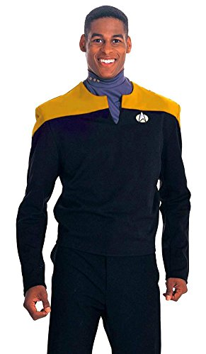 Deep Space Nine Gold Shirt Costume - Large - Chest Size 42-44 (Star Trek 7 Of 9 Costume)