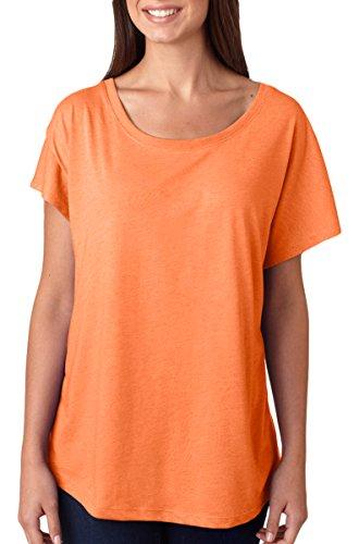 Next Level Apparel Women's Tri-Blend Dolman Jersey, Vintage Light Orange, - Vintage Womens Light