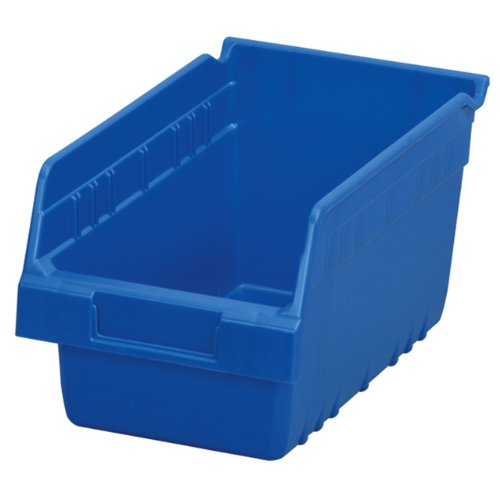 Akro-Mils 30090 ShelfMax Plastic Nesting Shelf Bin Box, 12-Inch Length x 6-Inch Width x 6-Inch Height, Case of 10, Blue ()