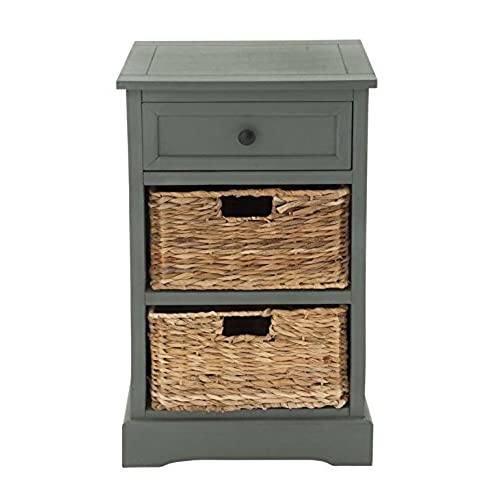 Deco 79 96180 Woodcraft Life Style Cabinet With 2 Wicker Baskets