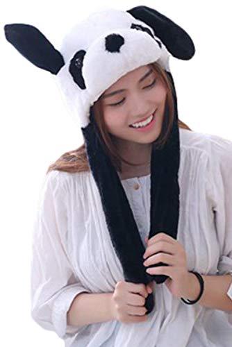 Joyshop Adult Plush Animal Hat Cute Corgi Hamster Cap with Ears Moving Headgear Halloween Party Props (One Size, Panda) ()