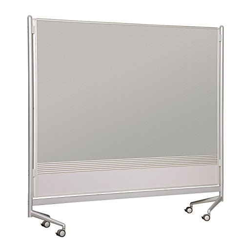 Balt Mobile Double Sided Divider Porcelain Steel Markerboard Laminate DOC Room Partition 6'H x 8'W electronic consumers