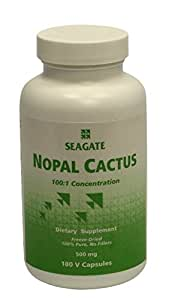 Seagate Products Freeze-Dried Nopal Cactus 500 mg 180 Capsules