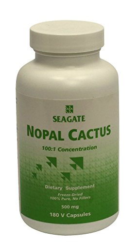 Cactus Capsules - Seagate Products Freeze-Dried Nopal Cactus 500 mg 180 Capsules