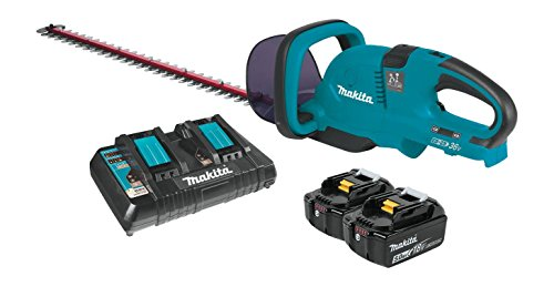 Makita XHU04PT 18V X2 (36V) LXT Lithium-Ion Cordless (5.0Ah) 25-1/2″ Hedge Trimmer Kit, 25-1/2-Inch, Teal